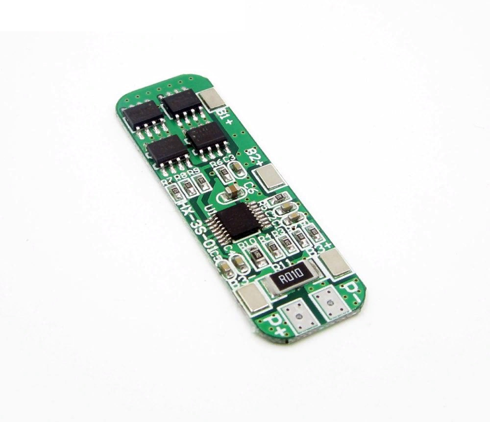 Контроллер заряда-разряда BMS 3S 10А для литиевых батарей