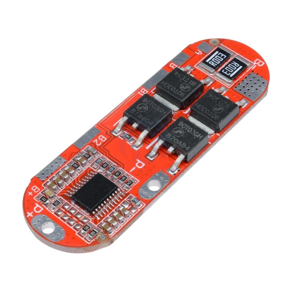 Контроллер заряда-разряда BMS 5S(3S/4S) 21B 25А для литиевых батарей