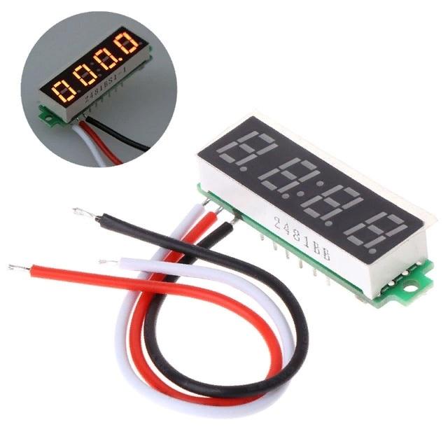 Цифровой вольтметр 0.28' 0-500В питание от 4 до 24В без корпуса