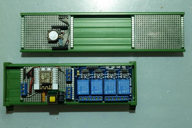 Кронштейн на DIN рейку элемент короба рейка на 50мм (цена за 7см)