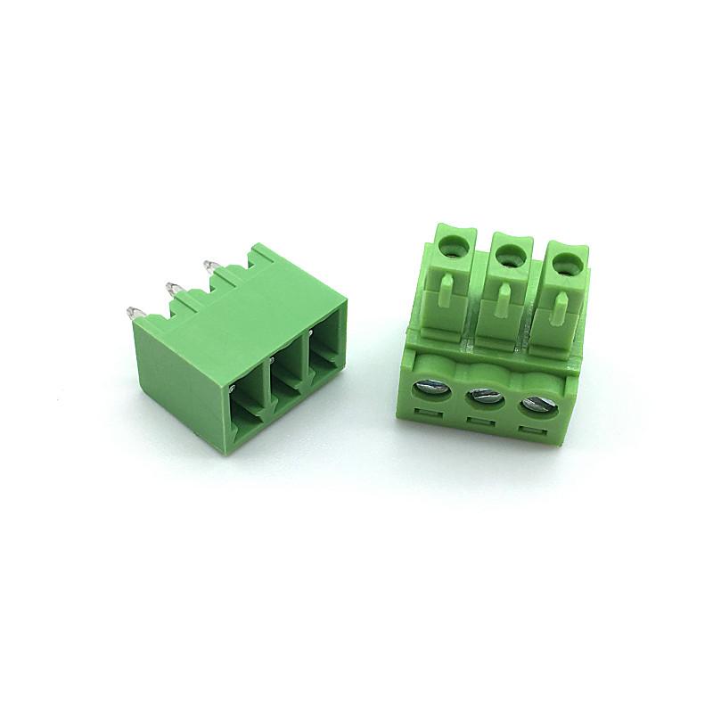 Терминальный блок 2EDG 3pin 3.81 мм прямой (8А)
