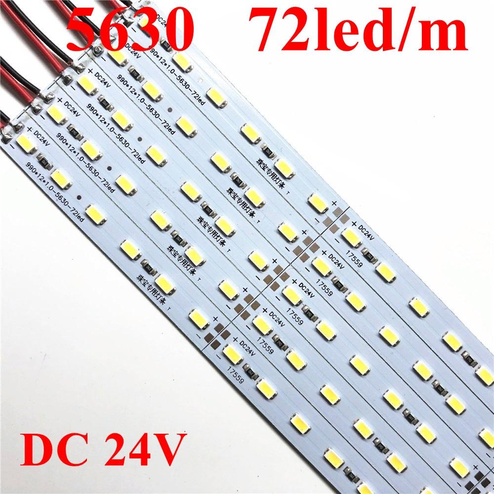 Светодиодная линейка 24V 7W 50см 36 LED5630/5730 3000k на аллюминевой плате