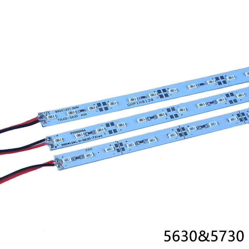 Светодиодная линейка 12V 4W 50см 36 LED5630/5730 зеленый на аллюминевой плате