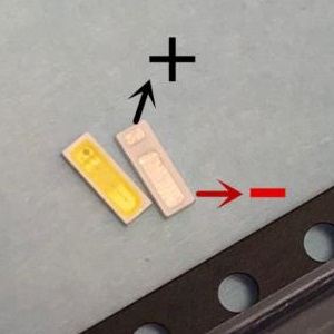Светодиод SMD 3V 0.5W (2.7-3.3V 150mA max160) 4014 замена 4020 холодный белый, LED