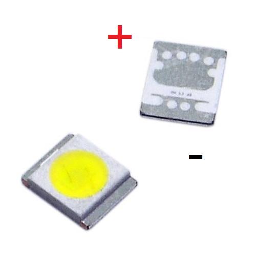 Светодиод SMD +3V 1W (3-3.6V 350mA max400) 3528 2835 110LM холодный белый, LATWT470RELZK, LED (анод)