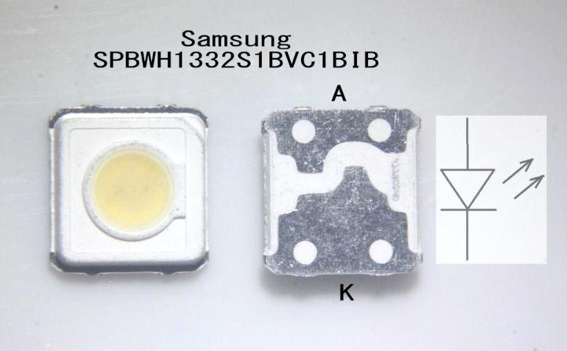Светодиод SMD 3V 1.25W (3-3.6V 350mA max570) 3537 3535 холодный белый, SPBWH1332S1BVC1BIB, LED