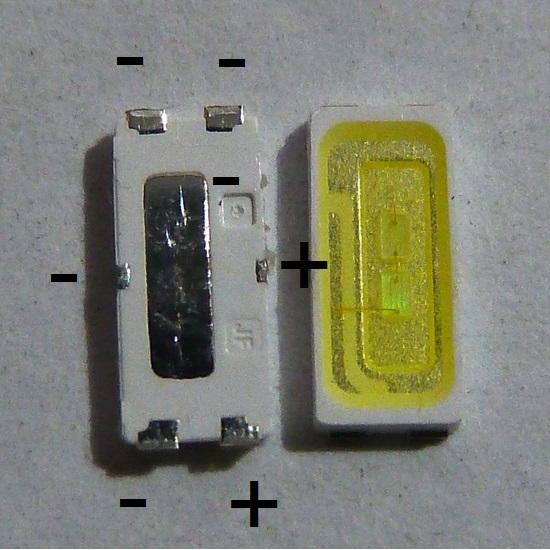 Светодиод SMD 6V 1W (5.60-6.6V 120mA max200) 7030 холодный белый, LED