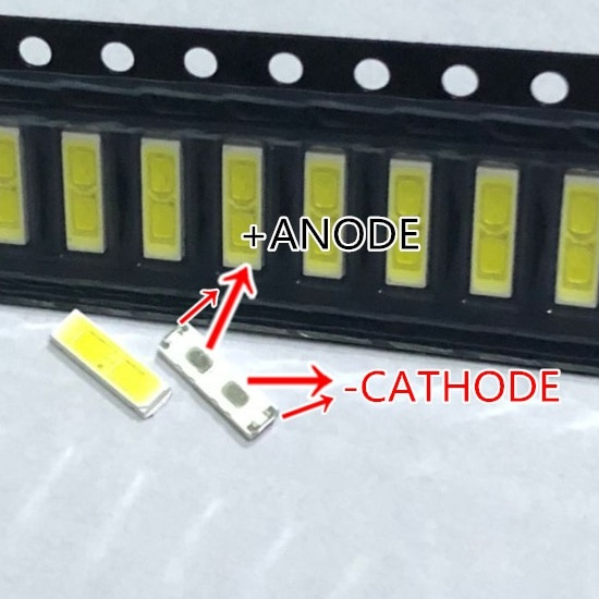 Светодиод SMD 6V 1W (5.60-6.6V 140mA max150) 7020 холодный белый, BD72K, LED