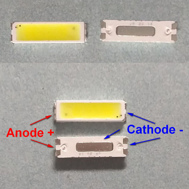 Светодиод SMD 6V 1W (5.40-6.6V 160mA max220) 7020 90LM холодный белый, JUFEI, LED