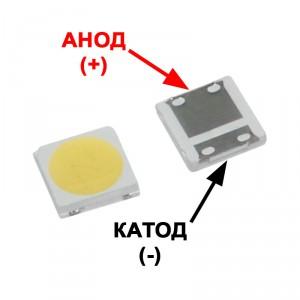 Светодиод SMD +6V 1.5W (6.0-6.6V 200mA max220) 3535 150LM холодный белый, LATWT391RZLZK, LED (анод)