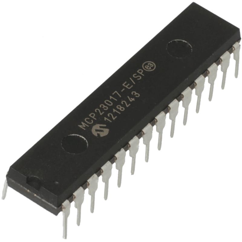 Расширитель портов MCP23017-E/SP DIP-28 I2C I/O 16-Bit