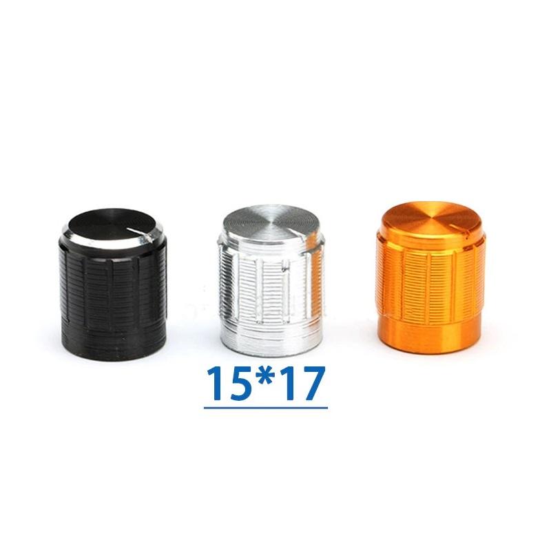 Ручка для переменного резистора 15*17 золото