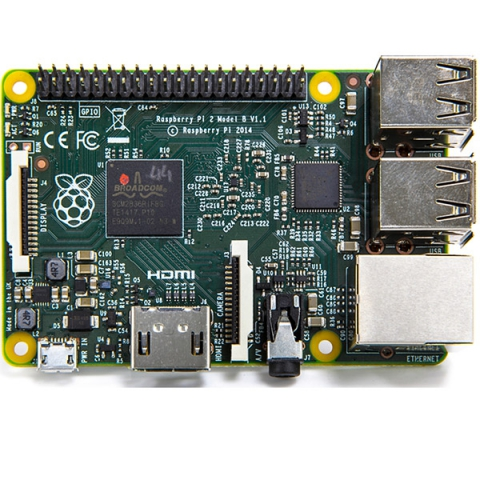 Плата микрокомпьютера Raspberry Pi 2 Model B 1GB RAM