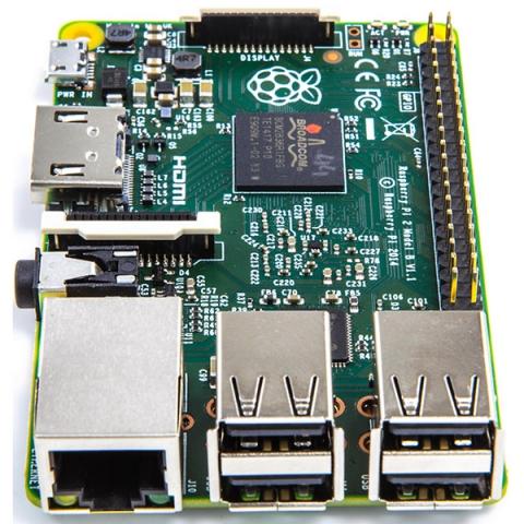 Плата микрокомпьютера Raspberry Pi 2 Model B 1GB RAM