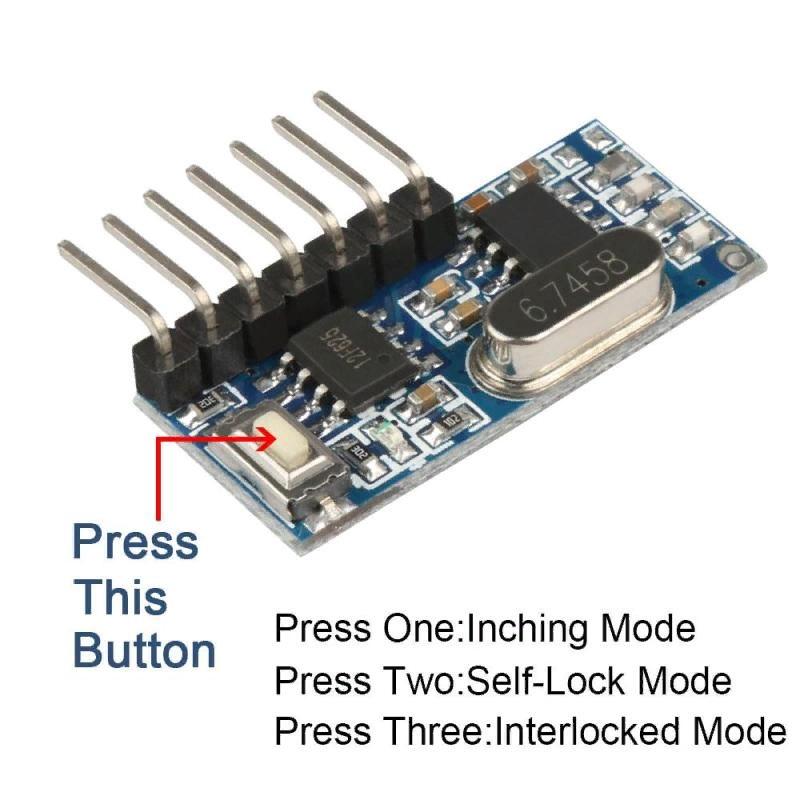 Модуль приемник 4 канала 433Мгц