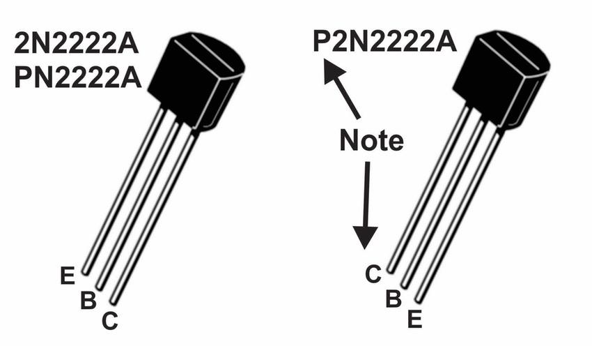 Транзистор биполярный NPN 2N2222