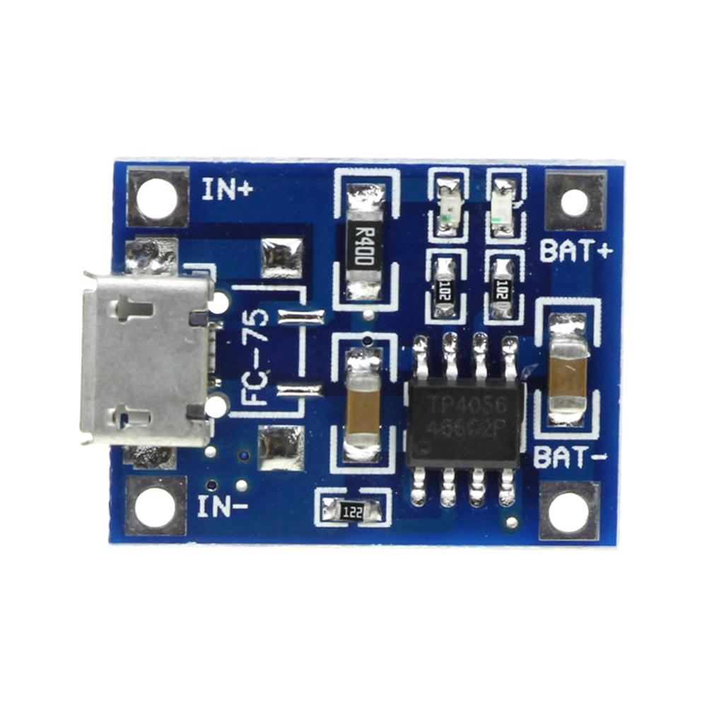 Контроллер заряда-разряда BMS 1S TP4056 Li-ion аккумуляторов microUSB
