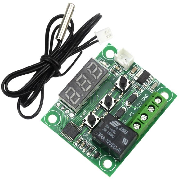 Терморегулятор программируемый W1209 DC12V нагрев/охлаждение, индикатор 3 цифры (мини)