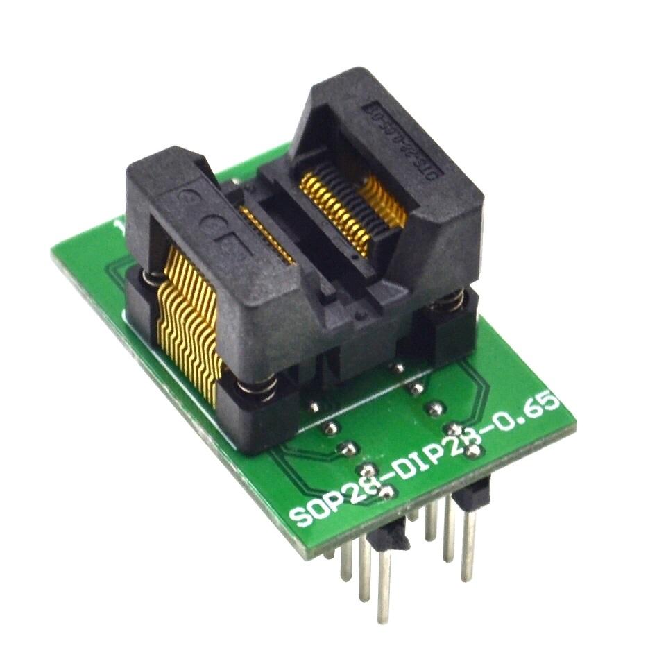 Адаптер для программатора SOP28 to DIP28 0.65mm 150mil