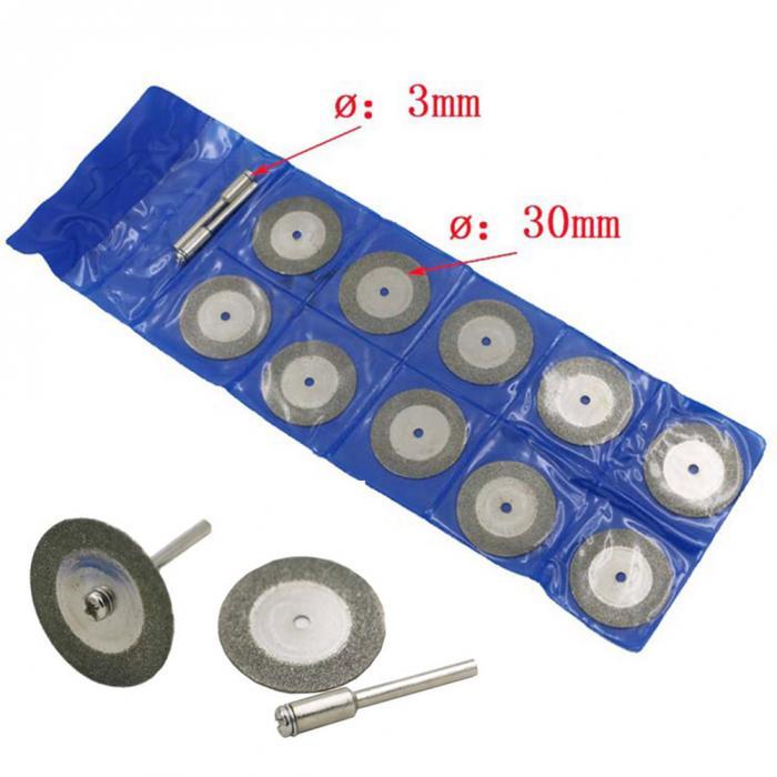 Круги отрезные 30мм алмазные со штивтом (набор)