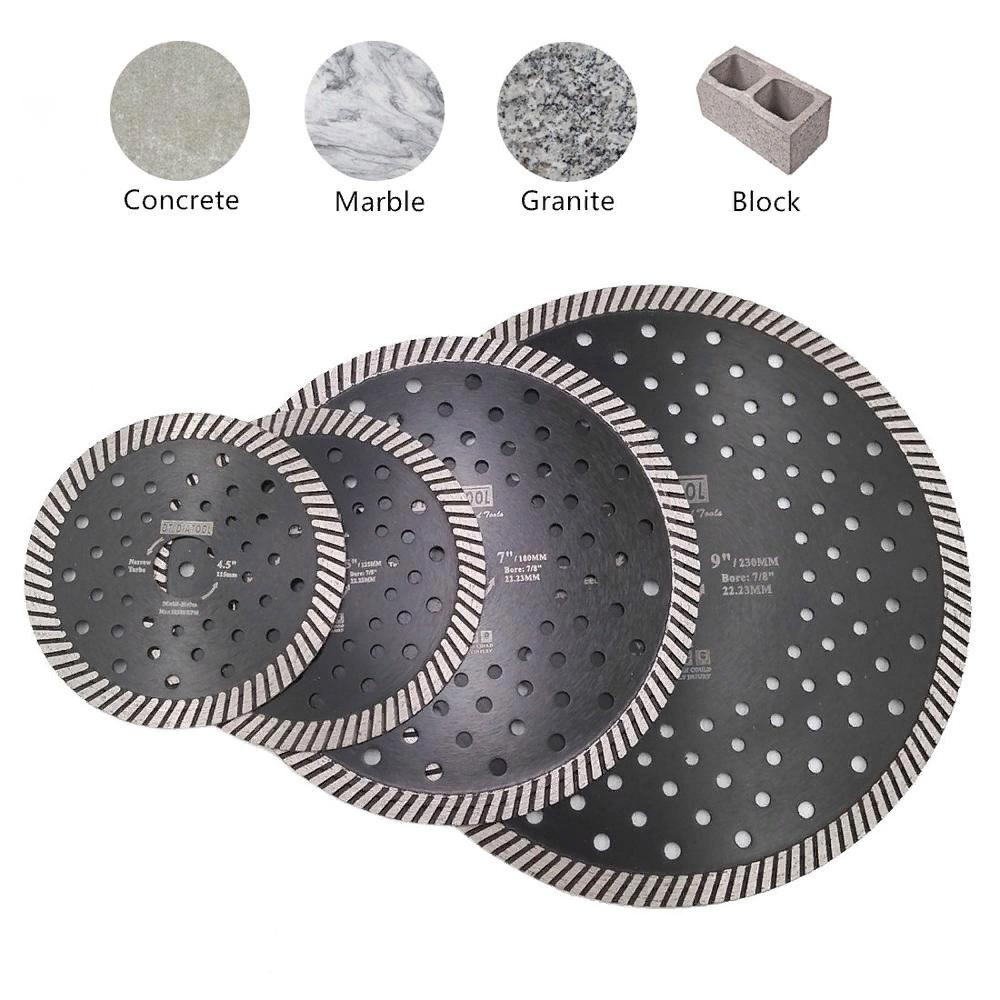 Алмазный диск по камню 125мм черный (5'/125mm 10*2.1-2.2mm 22.23mm (7/8'))