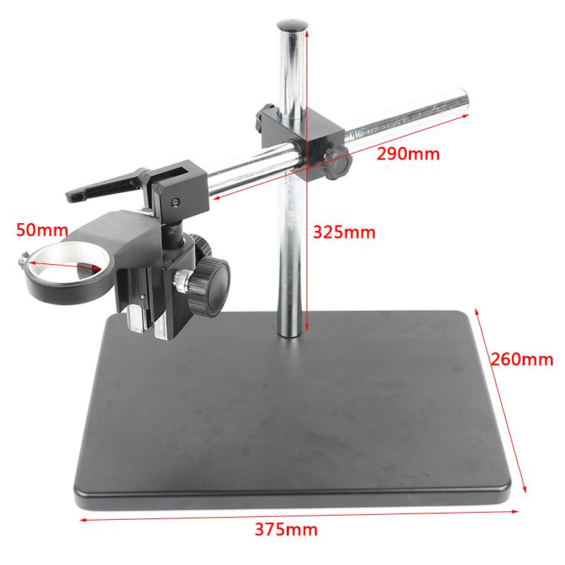 Регулируемая настольная подставка 375*260мм высота 340мм + горизонтальная ось 290мм для камеры/микроскопа