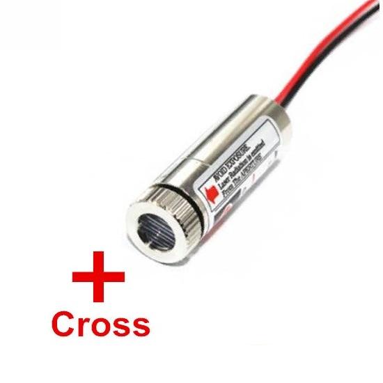 Лазерная головка 650nm 5МВт, крест, стеклянные линзы