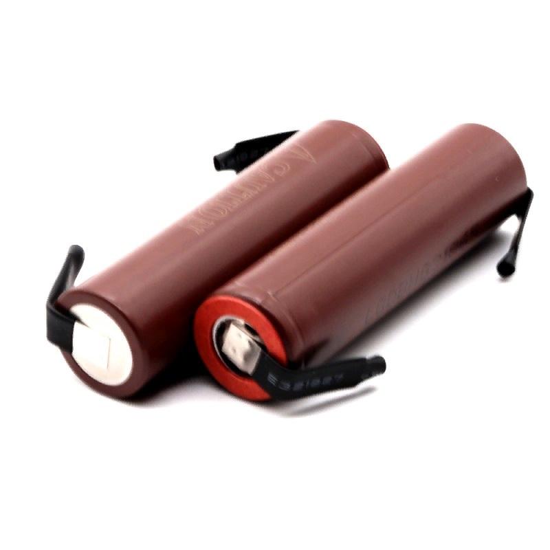 Аккумуляторная литиевая батарея 18650 HG2 3000мАч 10А-30А под пайку (высокотоковые, подходят для шуруповертов)
