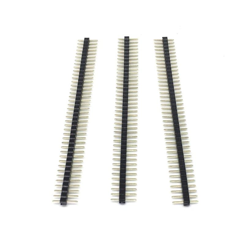 Соединители штыревые на плату 1х40 PIN 1.27мм прямой черный