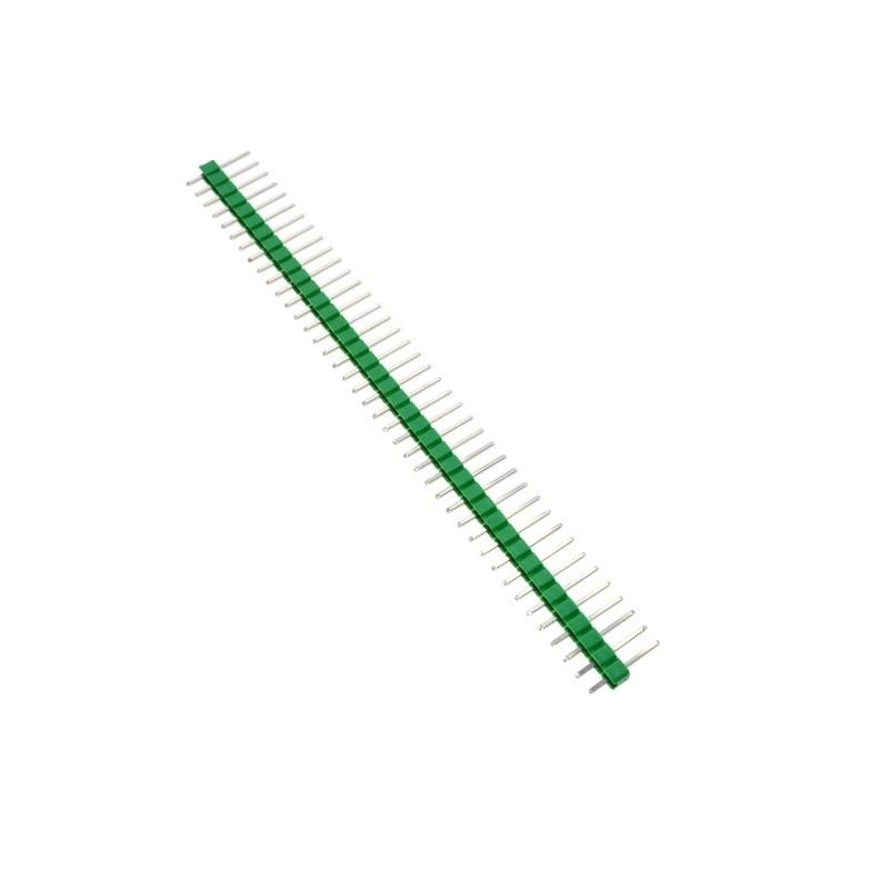 Соединители штыревые на плату 1х40 PIN 2.54мм прямой зеленый
