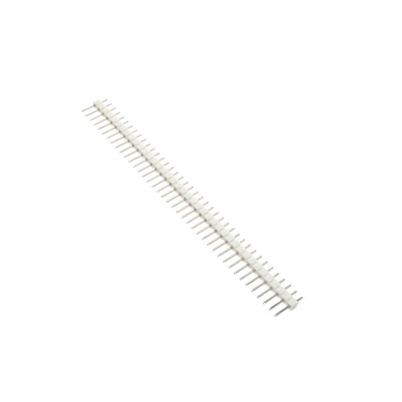 Соединители штыревые на плату 1х40 PIN 2.54мм прямой белый