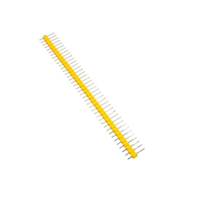 Соединители штыревые на плату 1х40 PIN 2.54мм прямой желтый