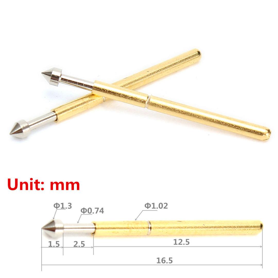 Пружинный контакт P75-E2 Pin 1.3 мм коническая головка 1.0 мм