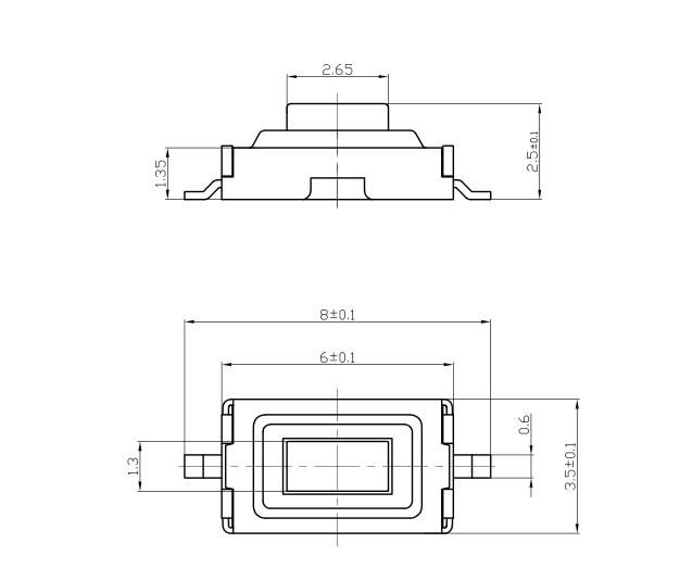 Микрокнопка SMD 3*6*2.5