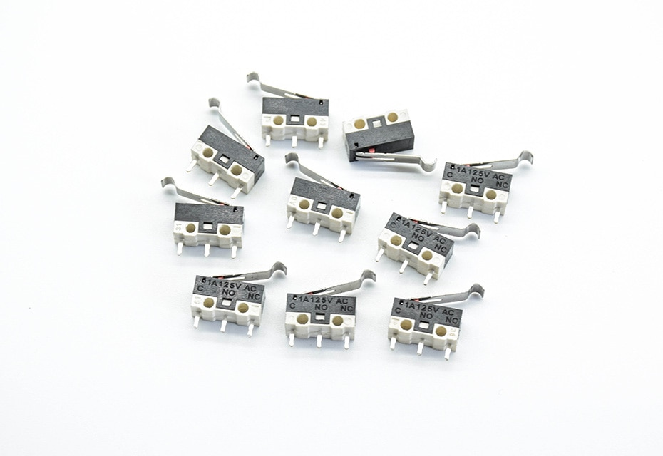 Микропереключатель с планкой изогнутой 15мм, 1А 125VAC, 13*6*6, концевик