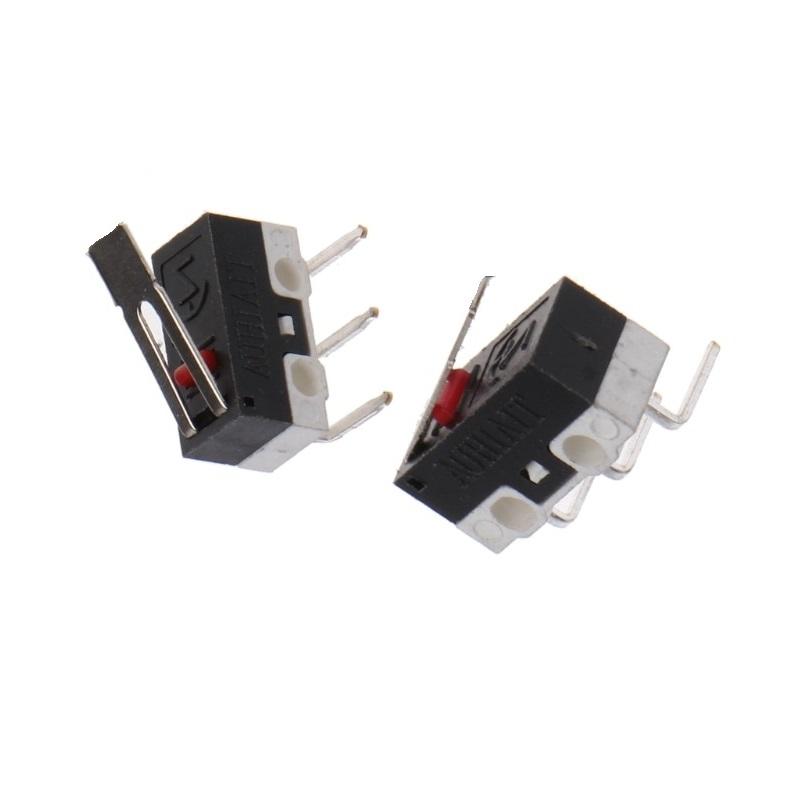 Микропереключатель левый с планкой 15мм, 1А 125VAC, 13*6*6, концевик